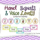 hand signals & voice levels! {chevron theme}