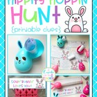 hippity hoppin' hunt {printable clues}