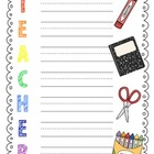 i love my teacher {free printables}
