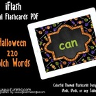 iFlash Halloween 220 Dolch Digital Flashcards PDF