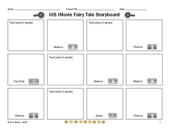 iOS iMovie for iPad Storyboards