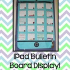 iPad Bulletin Board Display {Freebie!}