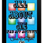 iPad All About Me, Back to School Craftivity