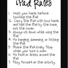 iPad Rules Posters: Black and White