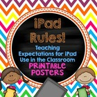 iPad Rules! Teaching Expectations for iPad Usage - Printab