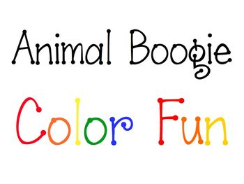 iPad, iPhone, and iPod Animal Boogie Color Fun Game