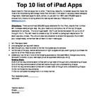 iPad top 10 assignment