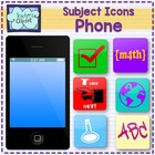 iPhone and school apps clipart