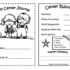 literacy center journal