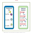 math bookmarks freebie