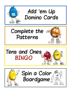 m&m Math Activities -- 6 great activities!