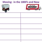 moving in the 1800's and now
