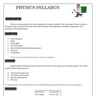 my physics syllabus