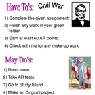 open court unit 4 civil war iwt menu and vocabulary cards