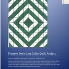 paper log cabin quilt: History, Reading, and Geometry Less