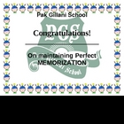 perfect memorization award