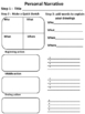 personal narrative graphic organizers