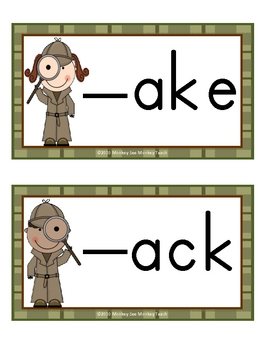 phonograms  (Little Detective) Word Families