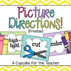 picture directions {free printables}