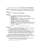 place value - Four Ways to Write a Number - lesson plan /
