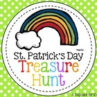 rainbow treasure hunt {printable clues}