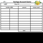 savings account game (harcourt brace math grade 5)
