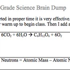 science Brain Dump for Middle School