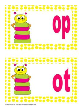 short o word family sorting activity