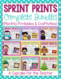sprint prints GROWING BUNDLE! {monthly printables & craftivities}
