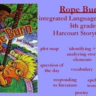 story elements with Rope Burn from Harcourt Storytown