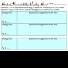 student accountability recording sheet
