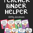 teacher management binder covers