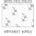 teachmehowtoALGE - Math Diamond Problems Worksheet Bundle