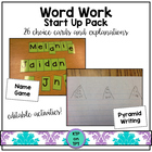 *updated* Word Work Literacy Centers (Choice Cards and Exp