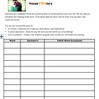 vocabYOUlary Associations Worksheet