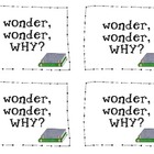 wonder, wonder, WHY? {comprehension discussion cards!}