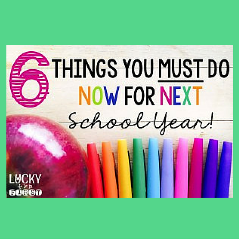 What to Do Now for Next School Year