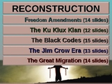 . RECONSTRUCTION! (All 5 parts) highly visual, textual, en