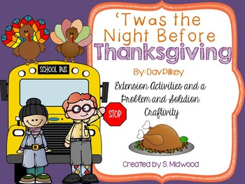 'Twas The Night Before Thanksgiving Extension Activities