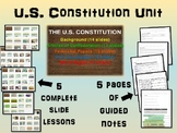 * U.S. Constitution UNIT (ALL 5 parts) highly visual, inte