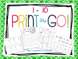 1 - 10 Print and Go!