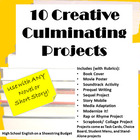 10 Creative Culminating Projects for Any Novel or Short St