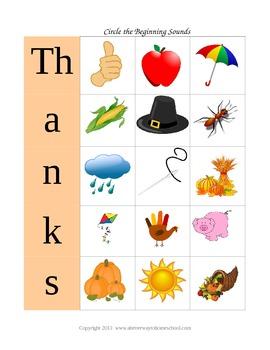 6 Thanksgiving Activities Freebie