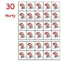 10 frame red white hat number cards 0-50 flashcards math c