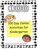 100 Day Center Activities for Kindergarten