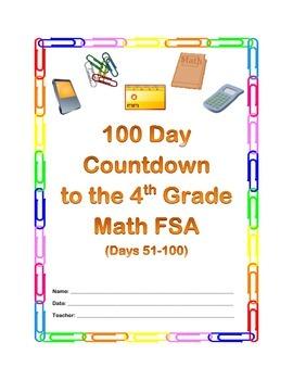 100 Days to the Math FSA - 4th Grade (Days 51-100)
