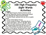 100 High Frequency Words Under the Sea Themes