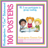 "100 Kindergarten ""I Can"" Common Core Math and ELA Posters"