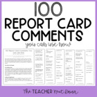 100 Report Card Comments You Can Use Now