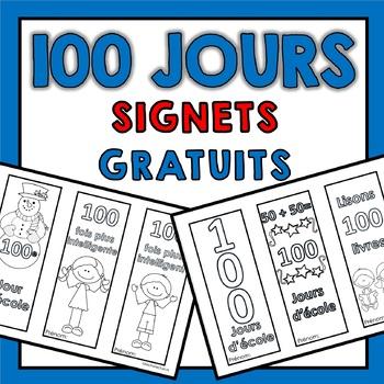 100 jours d'école (Signets gratuits pour célébrer le 100e